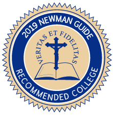 Cardinal Newman Society Recommended Catholic College Badge