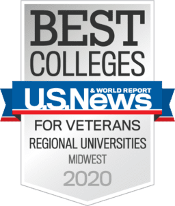 US News & World Report Best Colleges for Veterans Midwest Regional Universities Badge