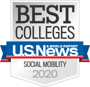 US News & World Report Bet Colleges for Social Mobility Badge