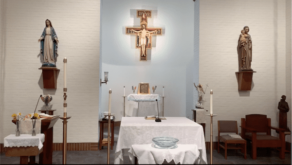Holy Spirit Friary Chapel in Eastertide