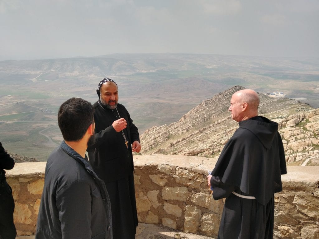 Franciscan University president Fr. Dave Pivonka, TOR, at the Mar Mattai Monastery, which dates back to the 4th century.