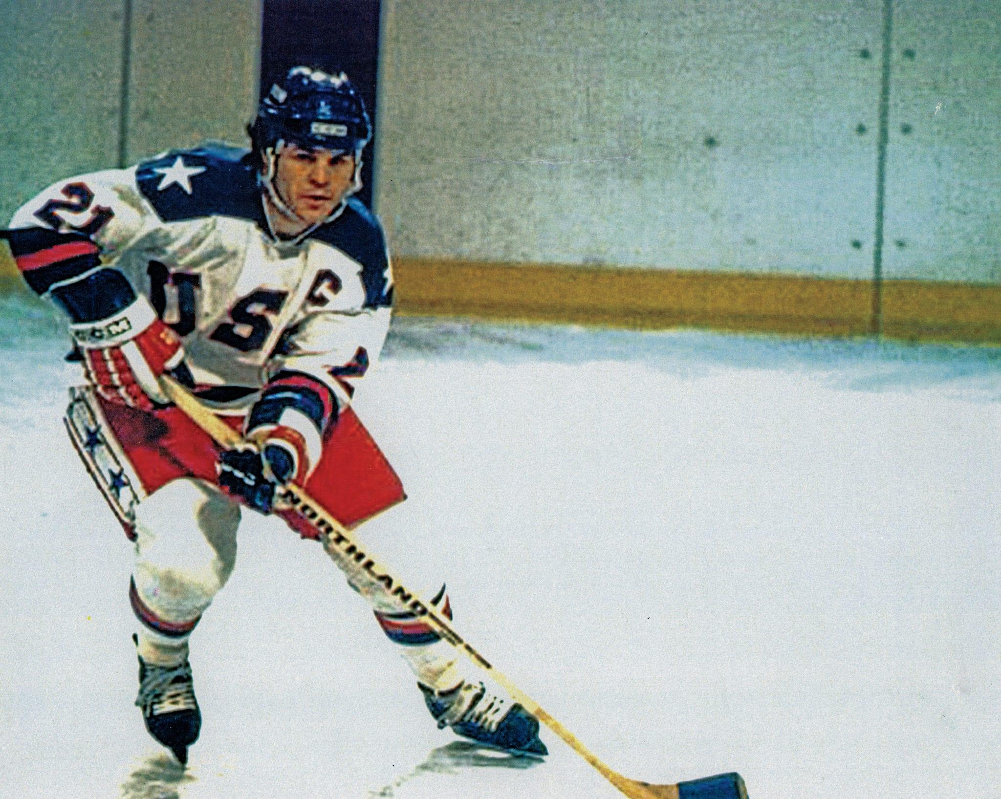 Mike Eruzione, member, 1980 U.S. Olympic Hockey Team