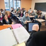 Class room from teacher POV