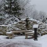 kelly's garden in the snow