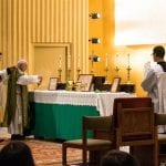 Offertory during the Extraoridinary Form Mass at Franciscan University