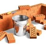 bricks starting a wall