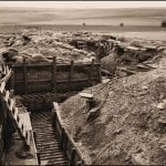 greyscale empty trenches