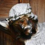 Closeup of wooden Crucifix
