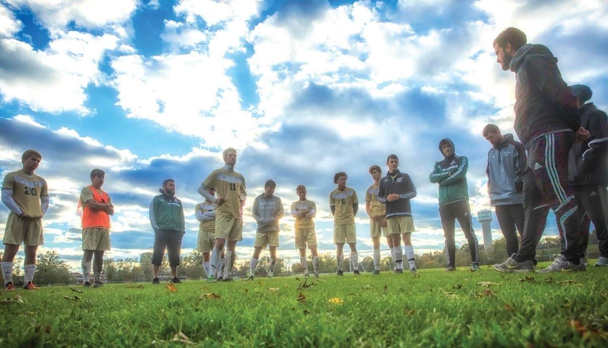 Soccer Team in Uniforms