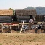 An archeology dig at Fort Steuben for a summer internship program.